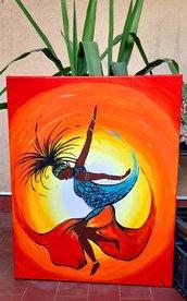 Voglia di ritmo colorato_Acrilico su tela_40x50 cm