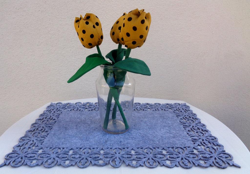 Fiore di stoffa, singolo