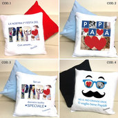 Cuscino personalizzabile per la Festa del Papà - varie grafiche e colori