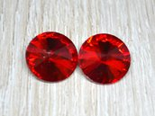 coppia rivoli vetro 14mm rosso