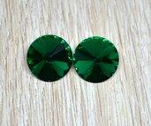 coppia rivoli vetro 14mm verde scuro