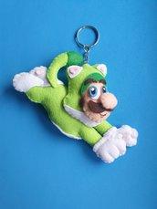 Portachiavi Super Mario 3D World versione Luigi Gatto