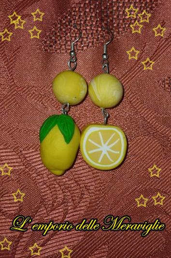 Orecchini in fimo Limone!!!