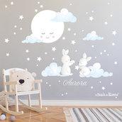 Adesivi murali bambini Moonlight