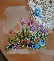 Piatto In Vetro Decorato A Mano Centrotavola Idea Regalo Handmade Pasqua