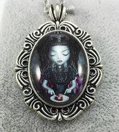 Collana Divoratrice di Cuori pendente cabochon gothic dark
