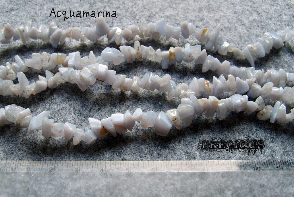 1 strand chips acquamarina