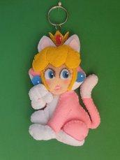 Portachiavi Super Mario 3D World versione Peach Gatto