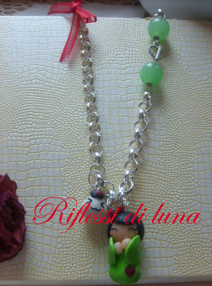 Collana Giapponesina e onigiri