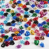 Perle roselline alluminio 8mm colori assortiti 100pz