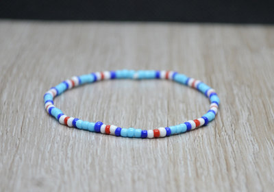 bracciale elastico perline nazione, bracciale fiji