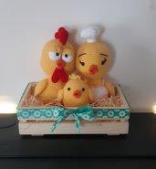 Famiglia pulcini all'uncinetto, amigurumi, Pasqua