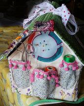 Casetta porta cotone in stoffa