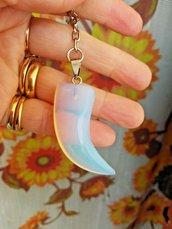 portachiavi portafortuna con ciondolo in autentica pietra di luna chakra cristalloterapia