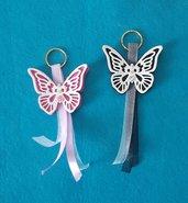 Portachiavi farfalla in gomma eva-feltro