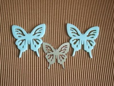 ciondoli farfalla celeste-specchio vend.