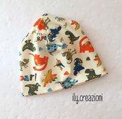 cappellino neonato in jersey di cotone