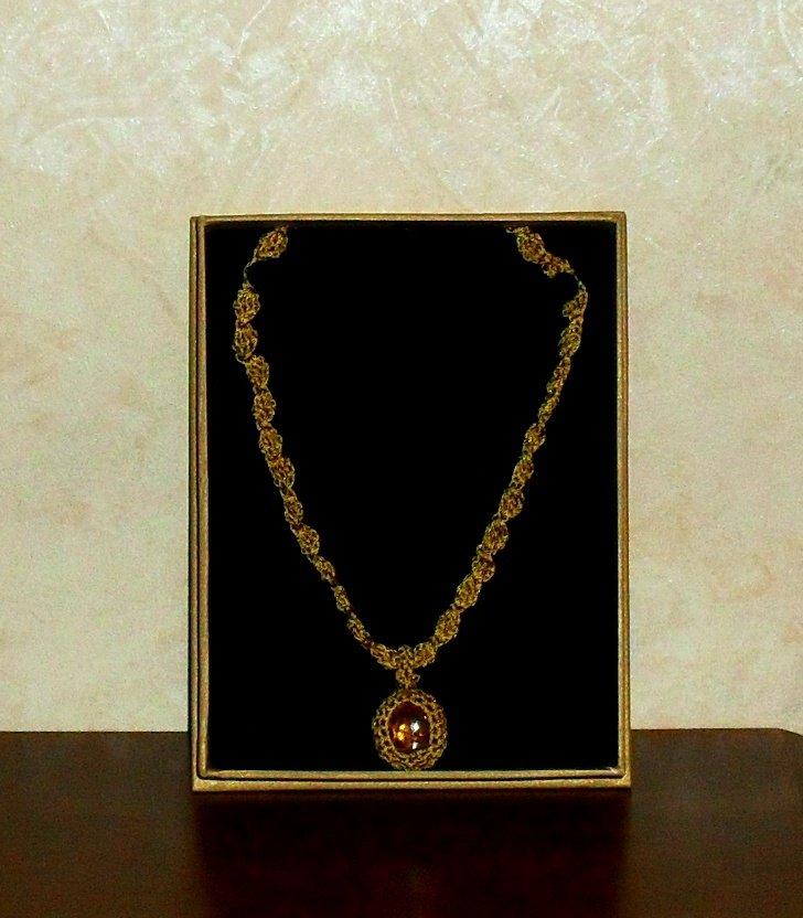 Collier Oro Uncinetto