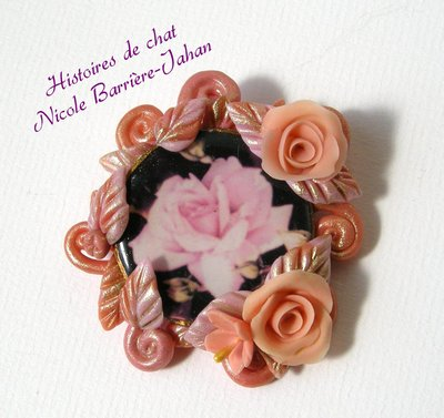 Broche Rose d'or