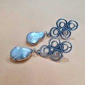 Orecchini bubbles zama e perle pendenti