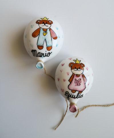 Palloncini in ceramica personalizzata 10x8cm BOMBONIERA palloncino