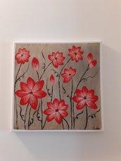 Dipinto con fiori rossi