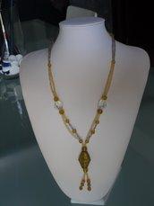 Collana classica ambra