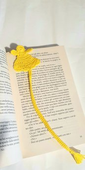 Segnalibro giallo fatto a mano