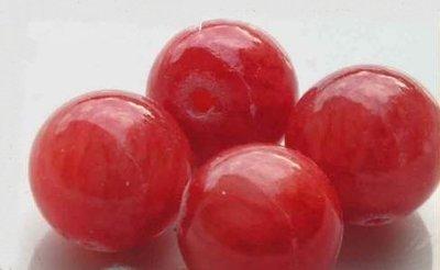 2 sfera in giada rosso