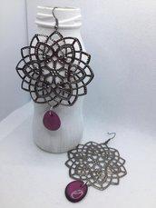 Orecchini - Mandala violet