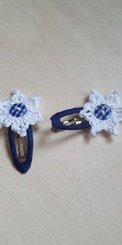Mollettine fermacapelli con fiore