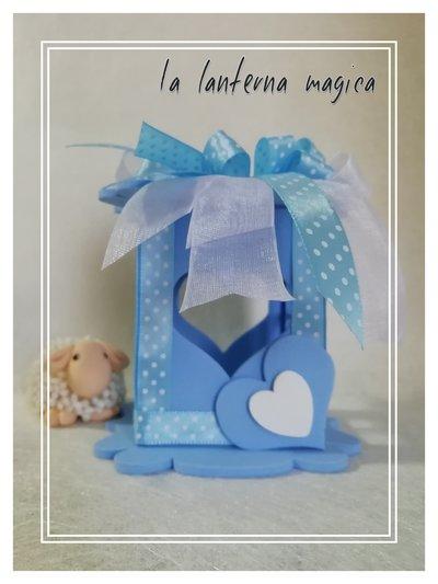 Lanterna decorazione bombonire la lanterna magica cerimonia festa giardino oggettistica battesimo baby maschietto