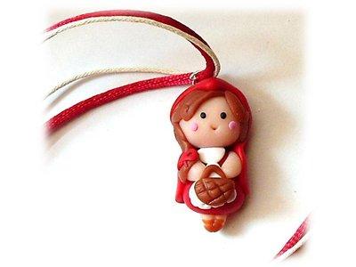 Collana Cappuccetto rosso- fimo