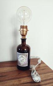 Monkey 47 lamp,abat jour personalizzata bottiglia,lampada artigianale,design,ufficio,locali,gin,handmade,festa della mamma