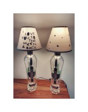 Coppia lampade, abat jour,lampade artigianali,lampada St.Germain,liquore,lampada personalizzata,design,handmade,compleanno,festa della mamma