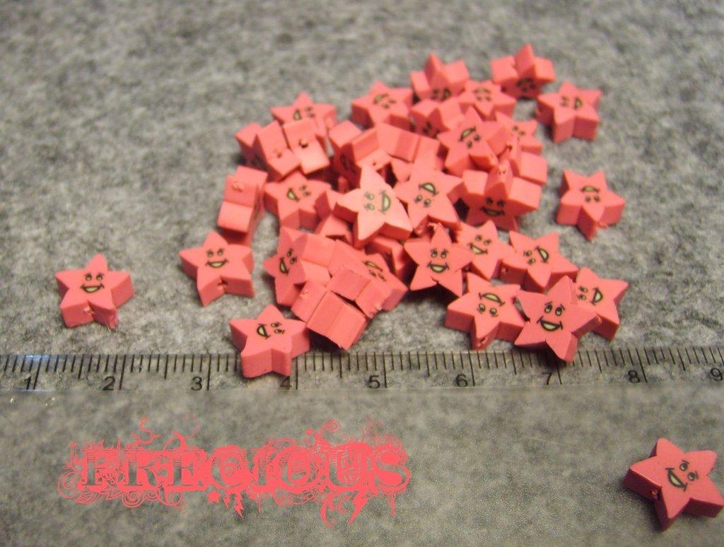 7 pz perline stella in fimo