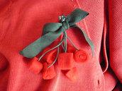Spilla ciliegia