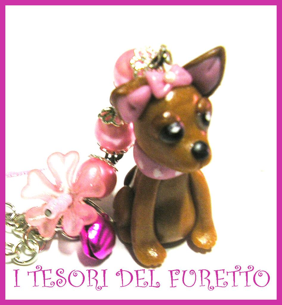 """Collana Chihuahua Cagnolino Fimo """"Candy"""""""