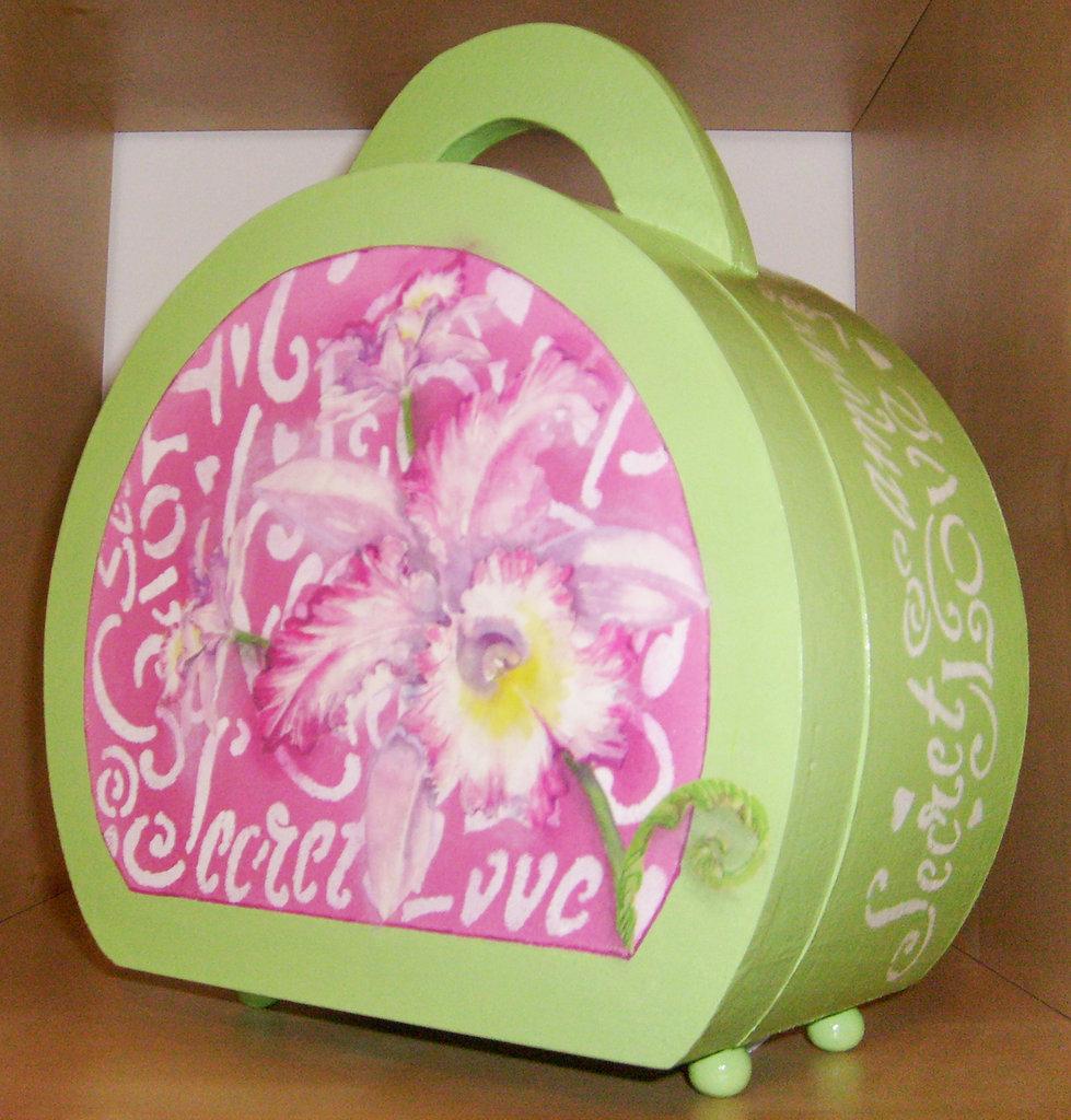borsa con orchidea