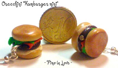 "Orecchini ""Hamburger mini"""