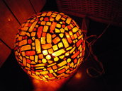 Lampada da tavolo mosaico