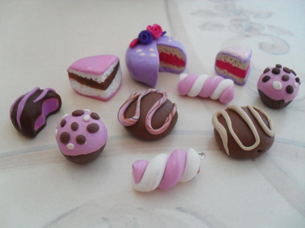 lotto 10 dolcetti fimo