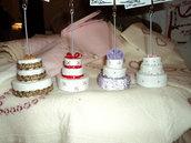 Mini wedding cake segnaposto/portafoto