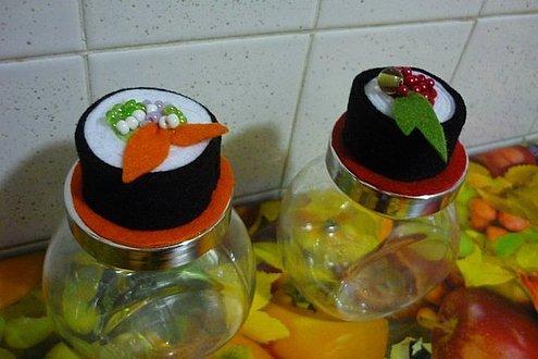 Vasetti con tappo sushi