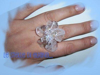Anello Fiori di cristallo