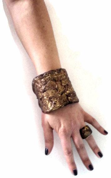 Etnic gold slave bracelet