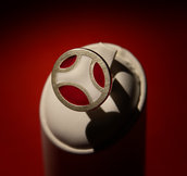 anello argento e smalto