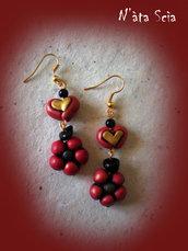 orecchini red in love