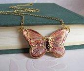 Pendente farfalla dipinto a mano- gioielli fatti a mano