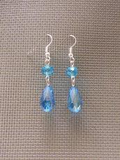 Orecchini gocce azzurri